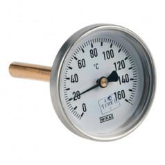 Термометр биметаллический а5001 160c дк63 l=100 Wika